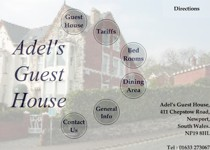 Adels Guesthouse website screenshot