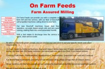 On Farm Feeds website screenshot