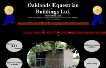 Oaklands Equestrian Buildings  website screenshot